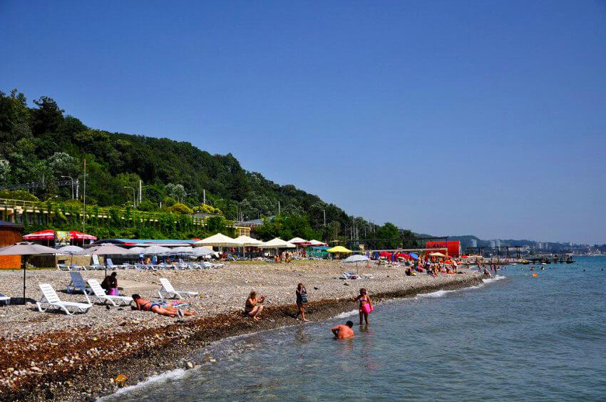 Пляжи в Сочи - Пляж Красный штурм