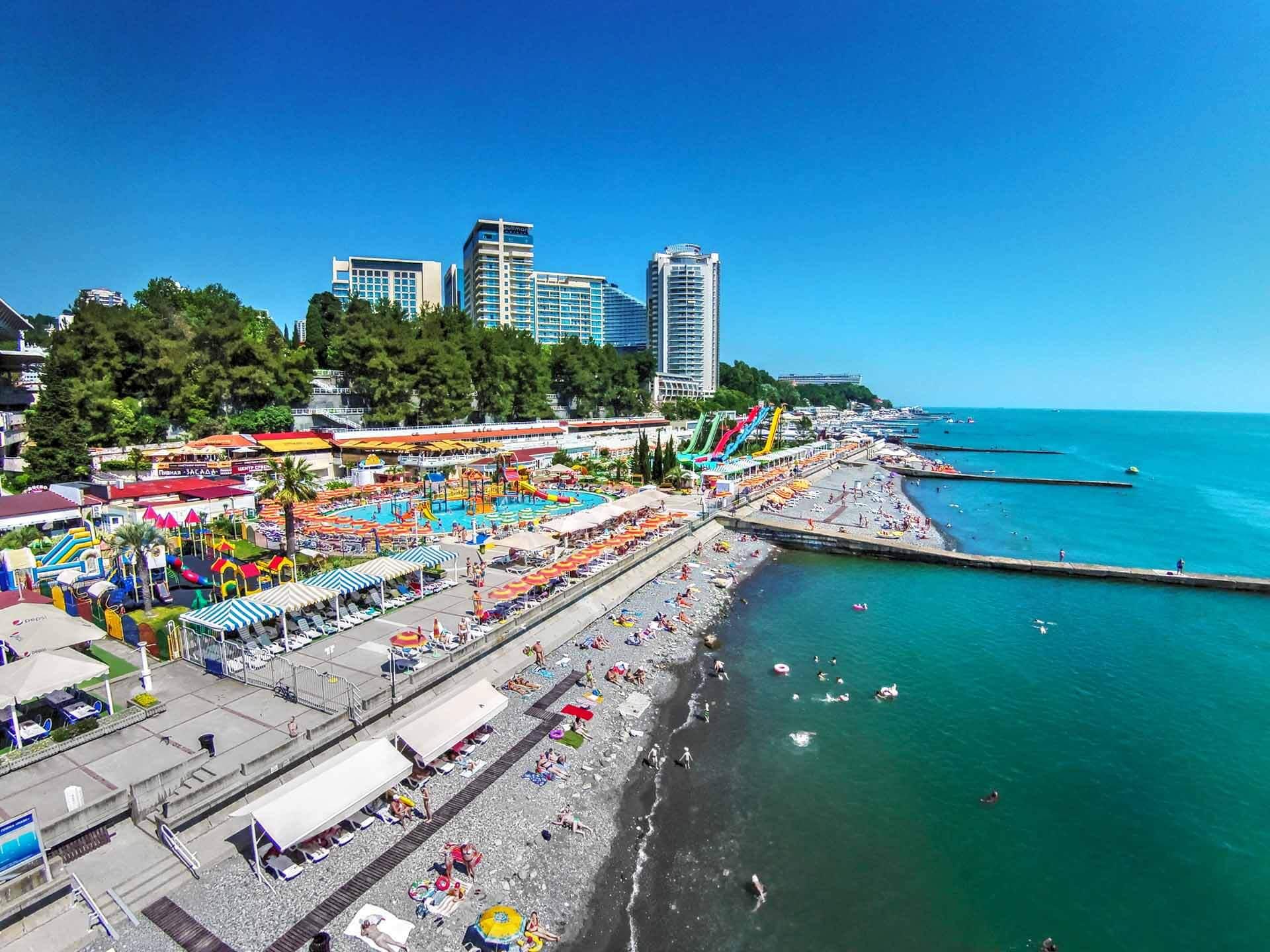 Пляжи в Сочи - Пляж Маяк