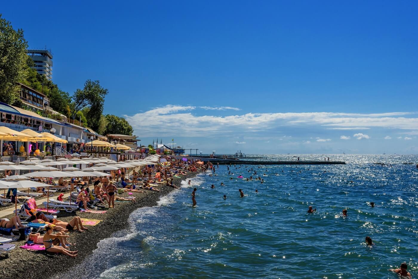 Пляжи в Сочи - Пляж Солнечный