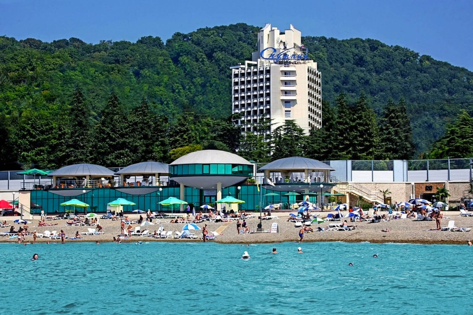 Пляжи в Сочи - Пляж Спутник